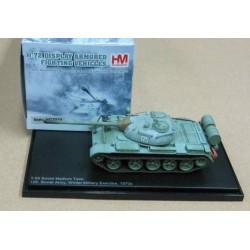 T-55 Medium Tank Soviet Army Winter Exercise 1970s Scale 1/72