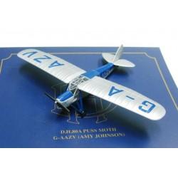 De Havilland Puss Moth Amy Johnson G-AAZV 1931 scale 1/72