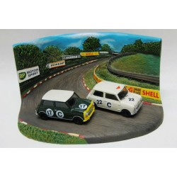 Morris Cooper S #17C & 22C  2nd & 3rd Bathurst Diorama 1966