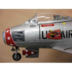 North American F-86 Sabre Col RR Rowland  Commander 21st Fighter/Bomber Wing George AF Base California and Chambley AB France 1953-56. First tactical F-86 wing to equip with 'Special Weapons'.  scale 1/48