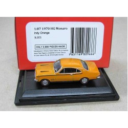 Holden HG Monaro Coupe Indy Orange 1970 scale 1/87 (HO)