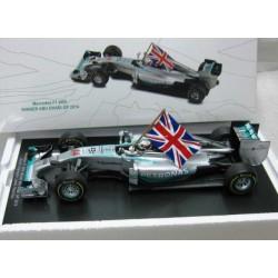 Mercedes F1 W05 #44 Lewis Hamilton Winner Abu Dhabi/World Champ 2014 Scale 1/18