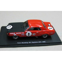 Ford Mustang #1 Shelby Racing Jerry Titus/Ronnie Bucknum 4th place 24 Hour Daytona 1968