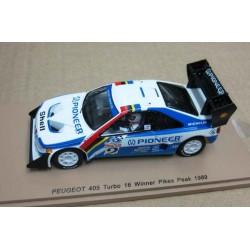 Peugeot 405 Turbo 16  #2 Robby Unser Winner Pikes Peak 1989