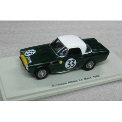 Sunbeam Alpine #33 Paddy Hopkirk/Peter Jobb Le Mans 1962