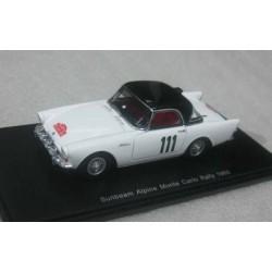 Sunbeam Alpine #111 Backlund/Falk Rally Monte Carlo 1960