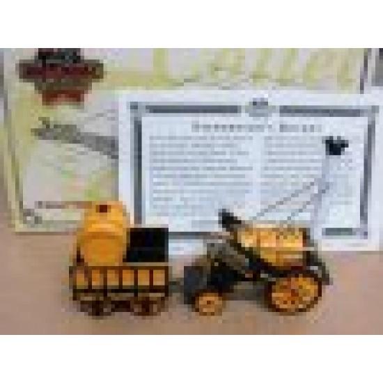 Stephenson's Rocket Steam Loco 1829 Yellow/Black scale 1/64