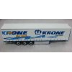 Trailer Articulated Sidecurtain 'Krone Profiliner' White/Blue scale 1/43